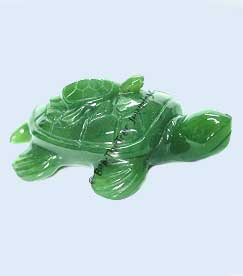 Jade Mother Sea Turtle With Baby Figurine (hnw-1399)