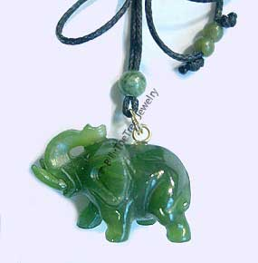 Jade Elephant Pendant (hnw-151) - DISCONTINUED