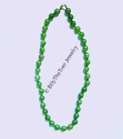 Strung Jade Bead Necklace (HNW-1991) - DISCONTINUED