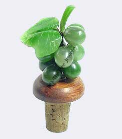 Jade Grapes Wine Stopper (HNW-2251) - DISCONTINUED