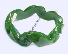 Carved A Grade Koru Jade Bangle (HNW-3377) - DISCONTINUED