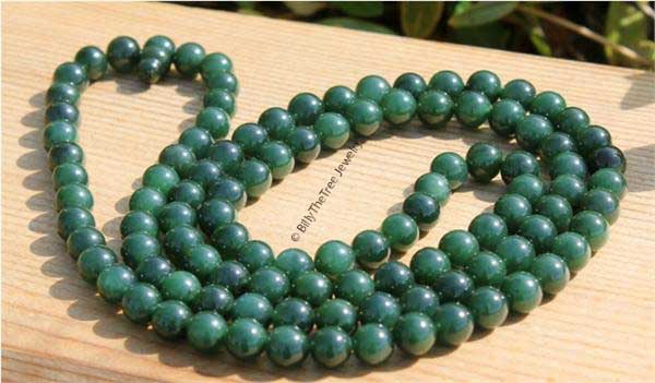 "8mm (1/3"") 108 Jade Beads (HNW-3993-8B-1)"