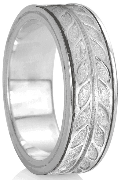 """HAILEY"" (MR1102) - Silver Serenity Collection - MeditationRing (Spinner Ring)"