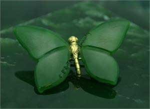 Polar Jade Butterfly Brooch (B1233) - DISCONTINUED