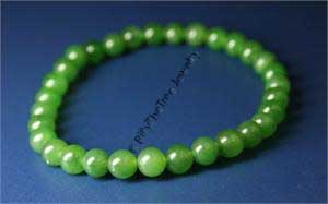 Jade Power Beads Bracelet (Multiple Sizes Available) (HNW-300) - DISCONTINUED (SEE J-GreenMalaBraceletGA-8mm)