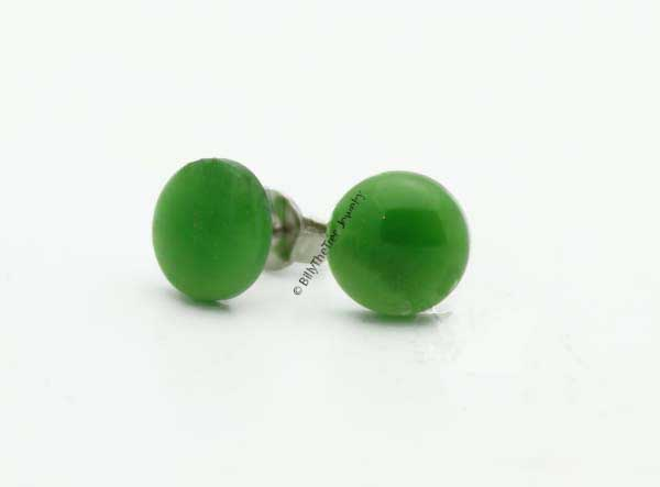 Jade Stud Earrings (0577) - DISCONTINUED