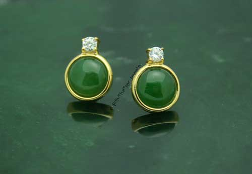 Jade Stud Earrings (E0081) - DISCONTINUED
