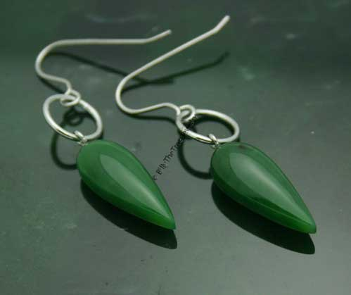 Polar Jade Drop Earrings (2282-HK)