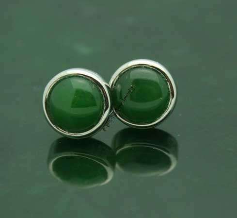 Jade Stud Earrings (E0759)