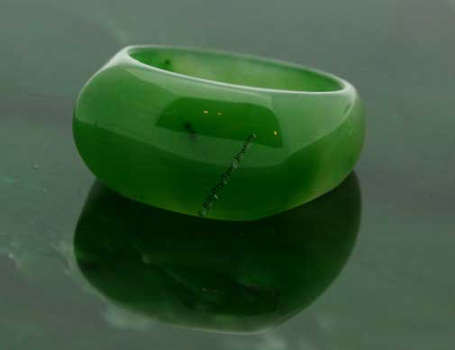 Solid Jade Saddle Top Ring (Smooth or Faceted) (R053)