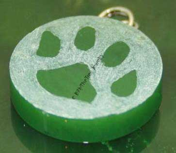 Jade Dog Paw Charm - DISCONTINUED