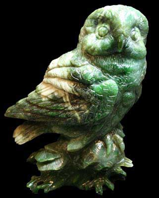 Jade Large Owl Figurine (hnw-1000) - DISCONTINUED