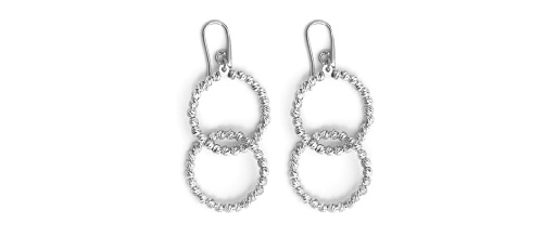 Officina Bernardi - Interlook Collection - Earrings (4 Color Choice) - Italian 925 Sterling Silver