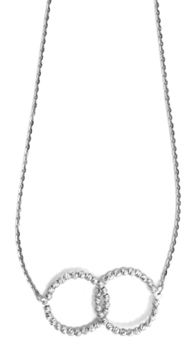 "Officina Bernardi - Interlook Collection - 16"" Necklace (4 Color Choice) - Italian 925 Sterling Silver"