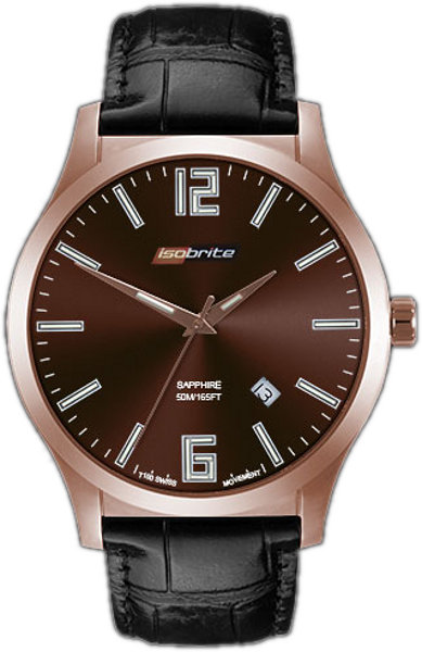 ArmourLite Watch - Isobrite Grand Slimline Series ISO904 - Black & Brown