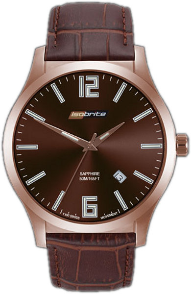ArmourLite Watch - Isobrite Grand Slimline Series ISO905 - Brown & Brown