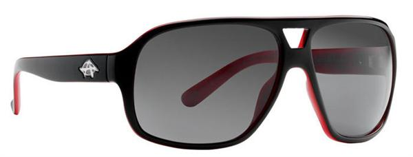 Anarchy Sunglasses - Indie Black with Red - Polarized - DISCONTINUED