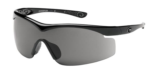 Gargoyles Sunglasses - Intimidator Shiny Black with Smoke Lens - Instinct Collection n- DISCONTINUED