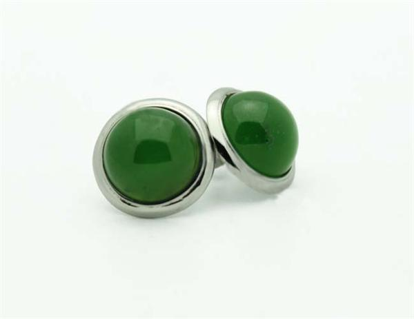 Jade Stud Earrings (UJKK-E0021)