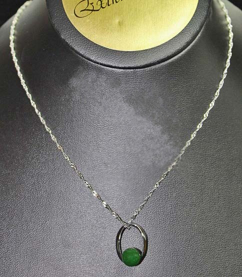 Oval Jade Bead Pendant (P0106ST) - DISCONTINUED