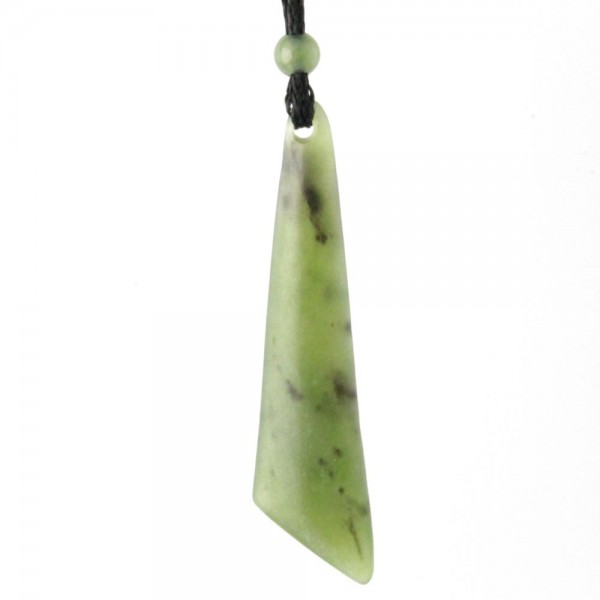 Jade Drop Pendant w/ Angled Bottom (UJKK-2054) - DISCONTINUED