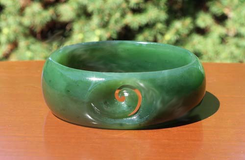 Jade Koru Bangle Bracelet (1615-56mm)