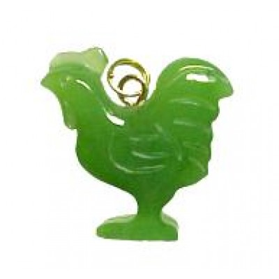 Jade Rooster Charm