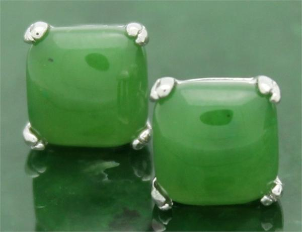 Jade Square Stud Earrings (KE0594)-1