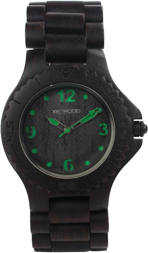 WeWood Wooden Watch - Kale Black/Green (wwood302) - DISCONTINUED