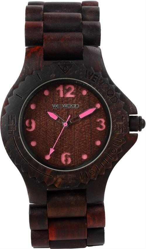 WeWood Wooden Watch - Kale Chocolate/Pink (wwood301)