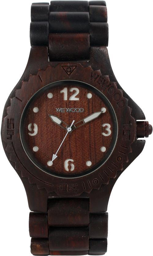 WeWood Wooden Watch - Kale Chocolate/White (wwood300) - LIMITED STOCK