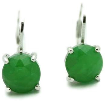 Faceted Jade Earrings (UJKK-KH0747A) - DISCONTINUED