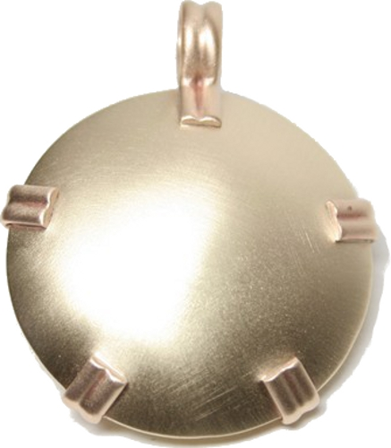 BioElectric Shield - Level 1: Round Brass Pendant w/ Free Polishing Kit (Polished or Satin) (L11)