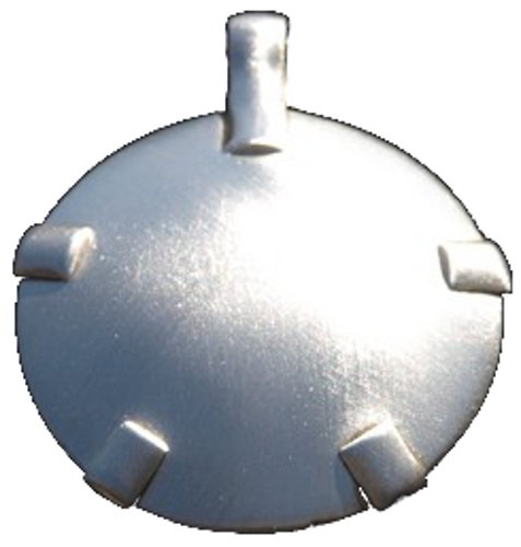 BioElectric Shield - Level 2: Sterling Silver Round Pendant (Satin or Polished) (L21)