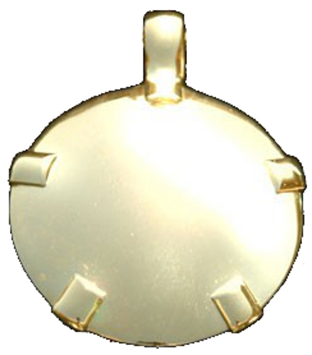BioElectric Shield - Level 4: 14K Gold Round Pendant (L41-P)