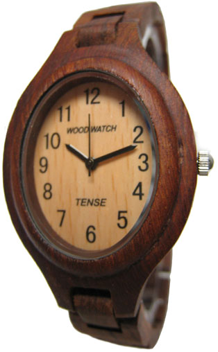Tense Wooden Watch - Womens Oval Sandalwood Watch - DISCONTINUED