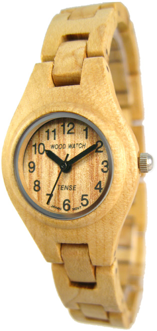 Tense Wooden Watch - Womens Maplewood Watch - DISCONTINUED