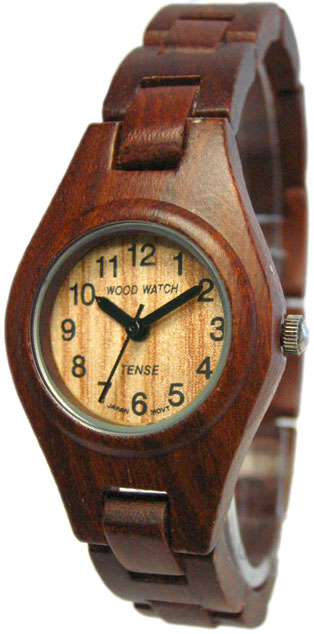 Tense Wooden Watch - Womens Sandalwood Watch - DISCONTINUED