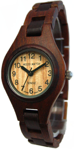 Tense Wooden Watch - Womens Sandalwood/ Dark Watch - DISCONTINUED