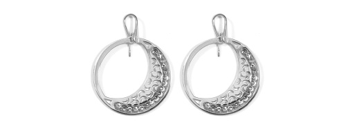 Officina Bernardi - Luna Collection - Earrings (4 Color Choice) - Italian 925 Sterling Silver