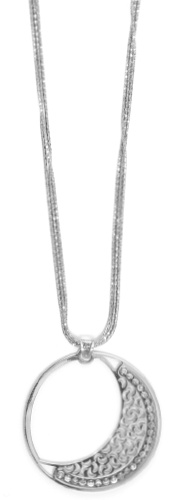 "Officina Bernardi - Luna Collection - 18"" + 2"" Necklace (4 Color Choice) - Italian 925 Sterling Silver"