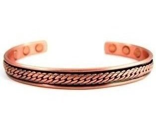 Athena - Solid Copper Magnetic Therapy Bracelet (MBG-25)