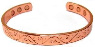 Vines - Solid Copper Magnetic Therapy Cuff Bracelet (MBG-028)