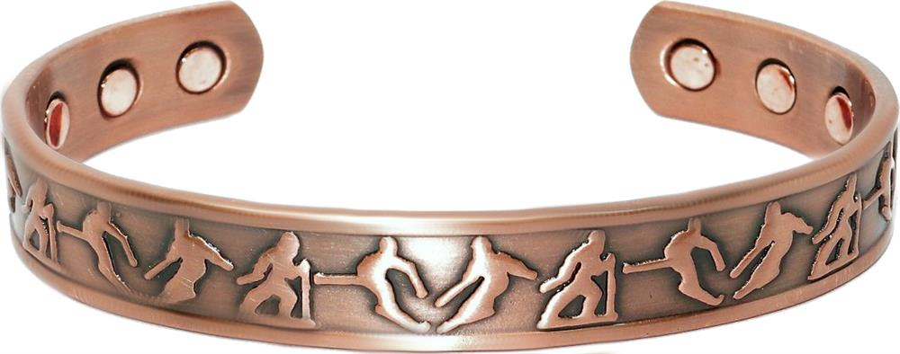 Winter  -  Solid Copper Magnetic Therapy Bracelet (MBG-041) - NEW!