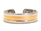 Golden River - Gold Plated Magnetic Therapy Ring (RC-218)