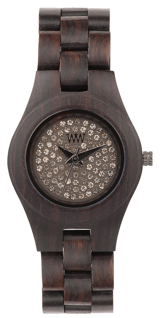 WeWood Wooden Watch - Moon Crystal Chocolate - DISCONTINUED