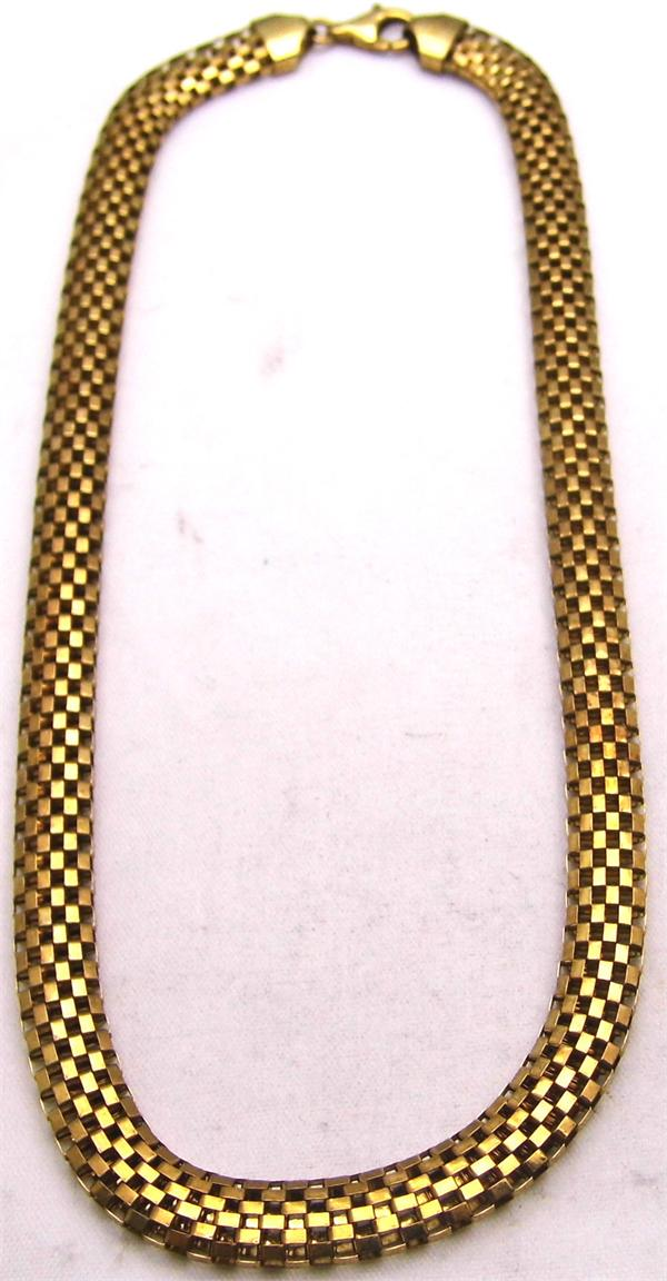 Gold Plated LIRM Italy Mesh Chain Necklace - Vintage / Estate Collection - SOLD