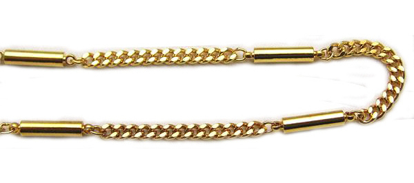 Golden Threads - Gold Plated Magnetic Therapy Necklace (N-800)