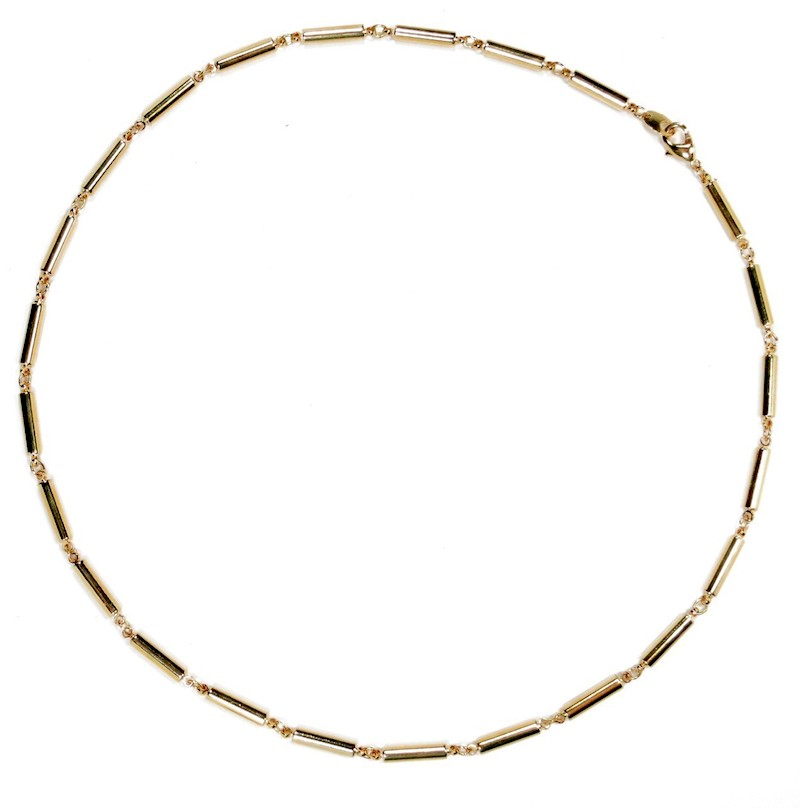 Golden Classic - Gold Plated Magnetic Therapy Necklace (N-1500)