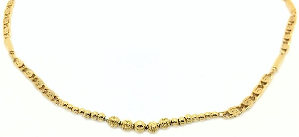 Golden Fine Dine Gold Plated Magnetic Therapy Necklace (N-300)